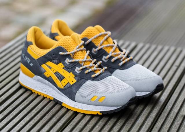 asics gel lyte iii yellow/mid grey