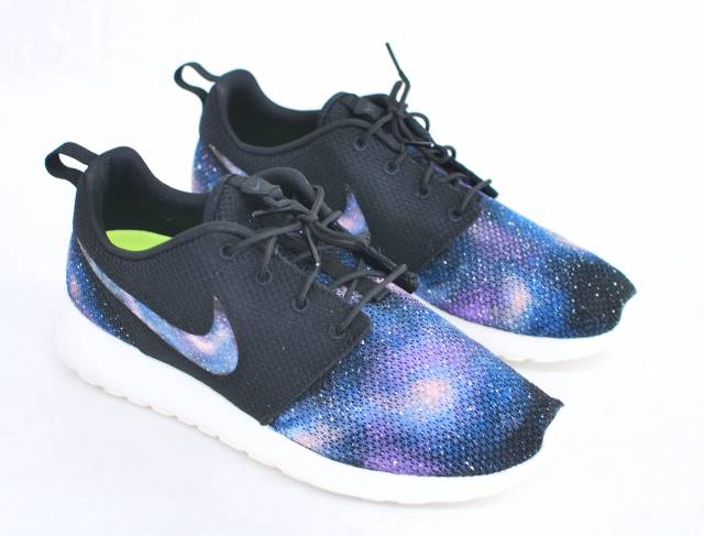 Mens Nike Roshe Full Galaxy Custom Shoe