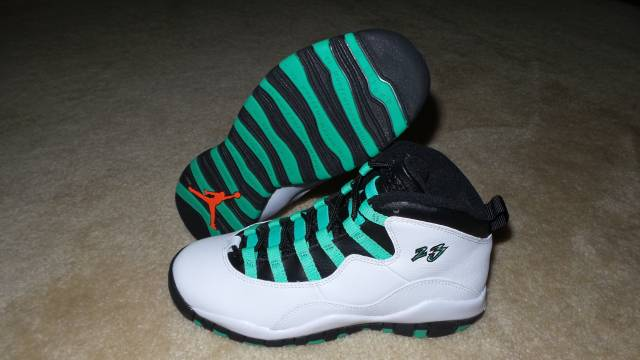e058592d9784 DS NIKE AIR JORDAN RETRO 10 VERDE SIZE GS 5