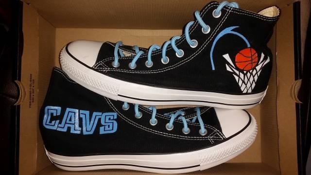3508e37e5cef Converse Custom Cleveland Cavaliers Chuck Taylors Size 11