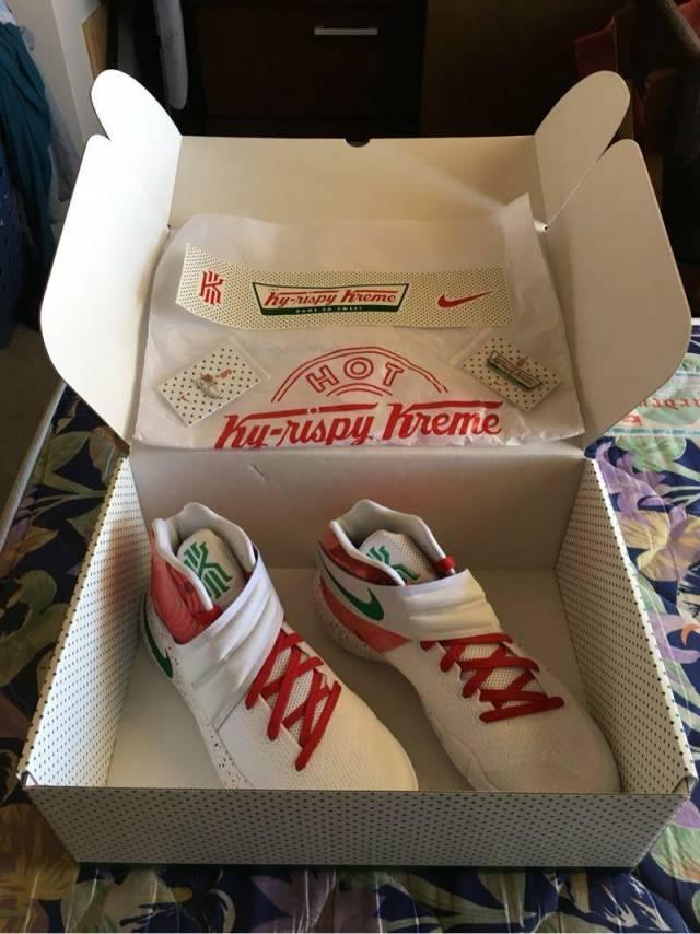 edb0a8861fcb Nike Kyrie 2 Krispy Kreme Ky-rispy Kreme size 8