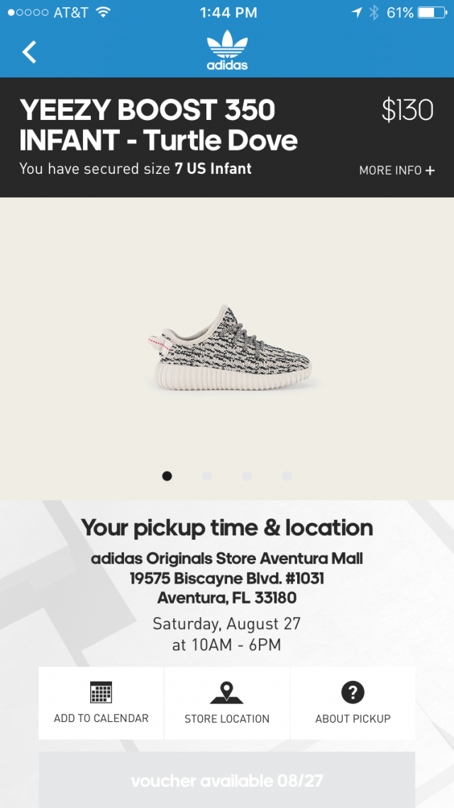 f5388df6a17b ... real yeezy boost 350 infant turtle dove size 7 w receipt 111dd 664d8