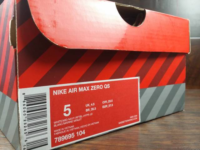 huge selection of 50b63 576b2 ... get nike air max zero qs white mid navy hyper jade size 5 ed0fc 1a566  ...