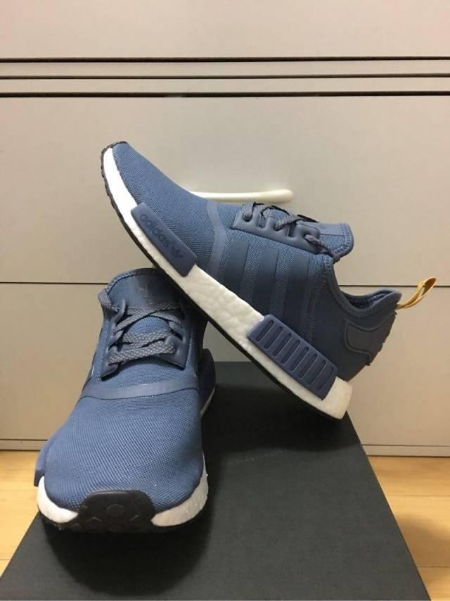 f17f49c3a Adidas NMD R 1 Blue Yellow White Reflective Women 7-8.5US