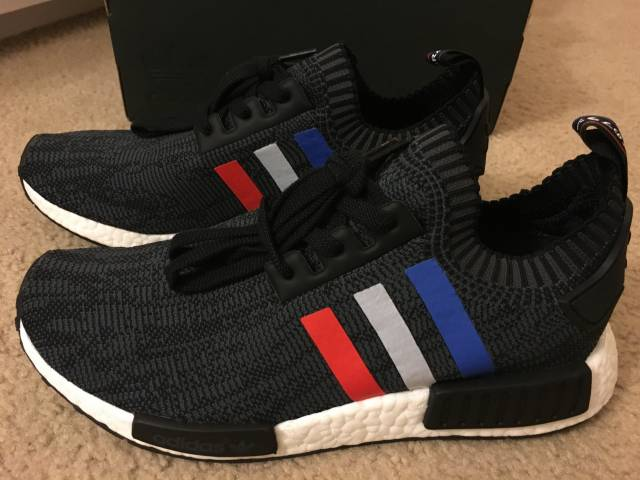 ADIDAS NMD R1 Winter Wool Core Black White Primeknit PK BB0679