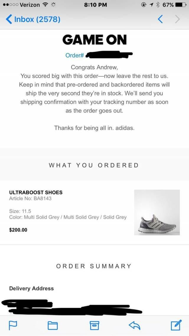 Adidas Ultra Boost 3.0 Silver Pack Super Bowl BA 8143 DS 9.5