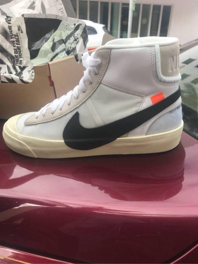 46ac1c8b7fb6 Nike Blazer Mid Off White Sz 10 DS