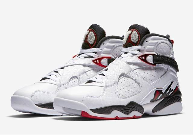 air jordan 8 red and white
