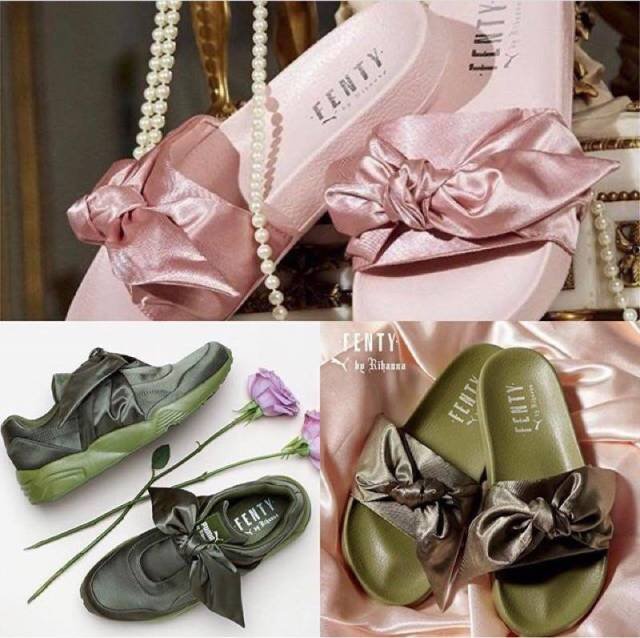 pretty nice 8236d 92677 Puma X Rihanna Fenty Bow Sneakers 'olive Branch' Green ...