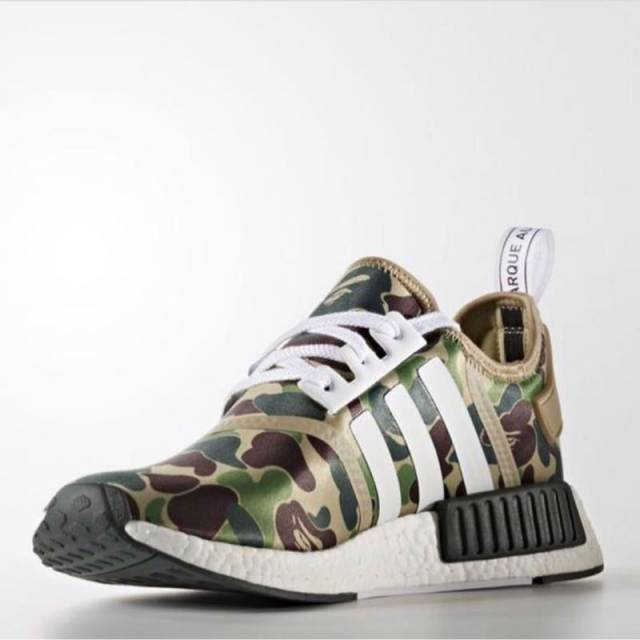 ADIDAS NMD R1 RUNNER 3M White Burgundy Black Grey
