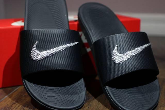 467c7b447 Custom Bling Nike Slides