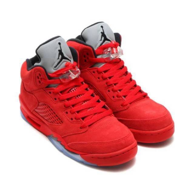 Nike Air Jordan V - Red Suede - Size 15