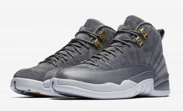save off 01df0 1772e ... promo code for air jordan 12 retro dark grey wolf grey gs grade school  2017 28c2f