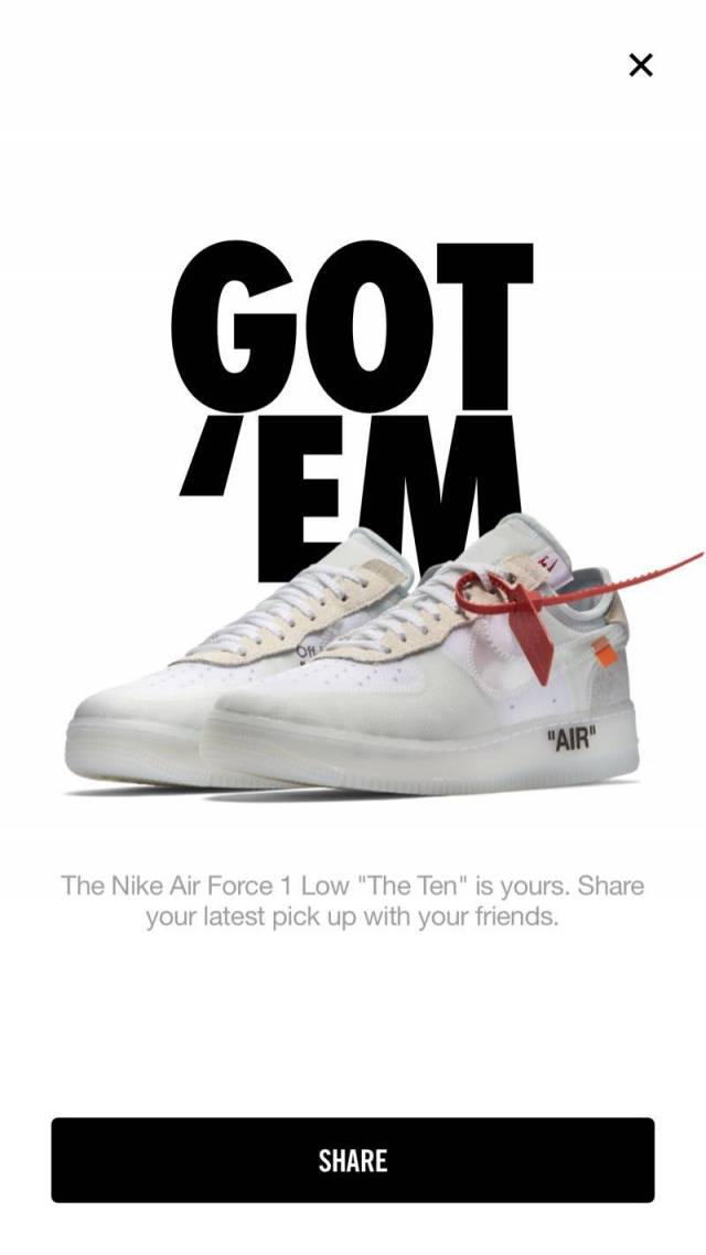 Off white air force lows size 12 nike