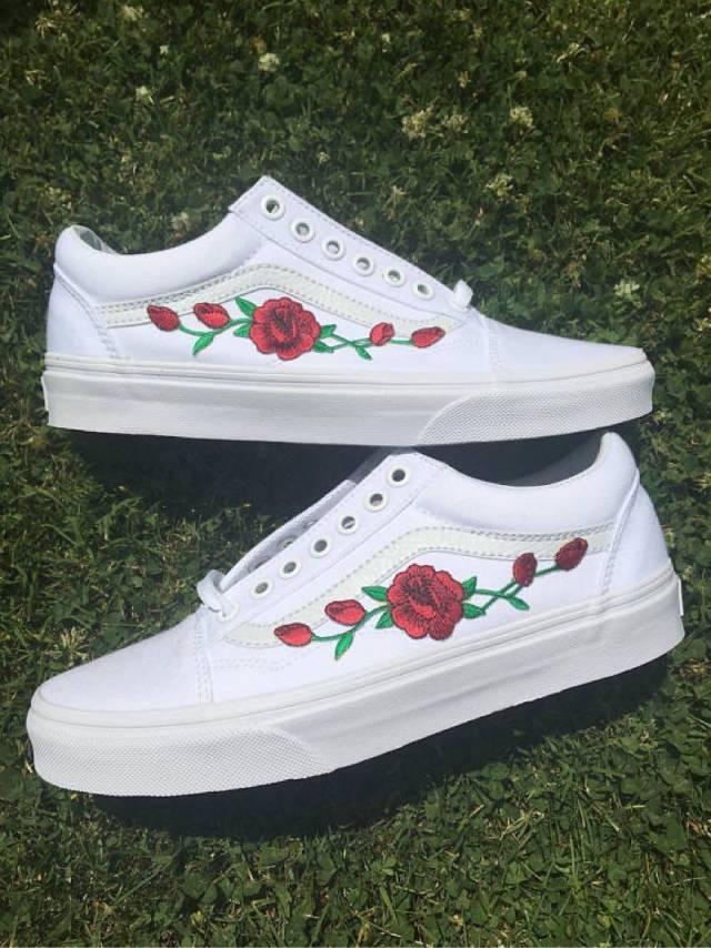 vans rose rosse