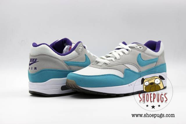 New Nike Id Air Max 1 Grape Sz 9 White Aqua