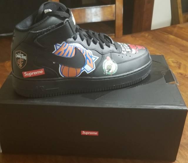 754be1076cad Supreme x NBA x Nike Air Force 1 Mid Black