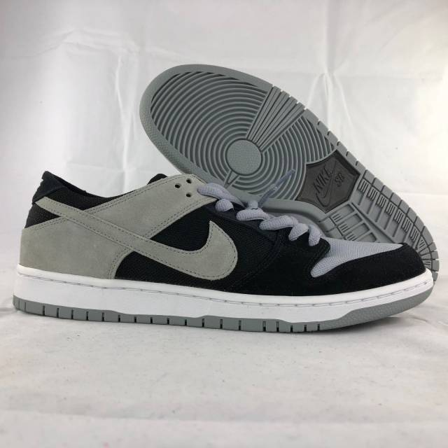 Nike SB Zoom Dunk Low Pro Black Wolf Grey White 854866-001 Men's 9.5-11.5 NEW