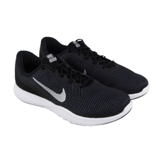 00e096bd5d9e Nike Flex Trainer 7 Womens Black Mesh Athletic Lace Up Training Shoes 10