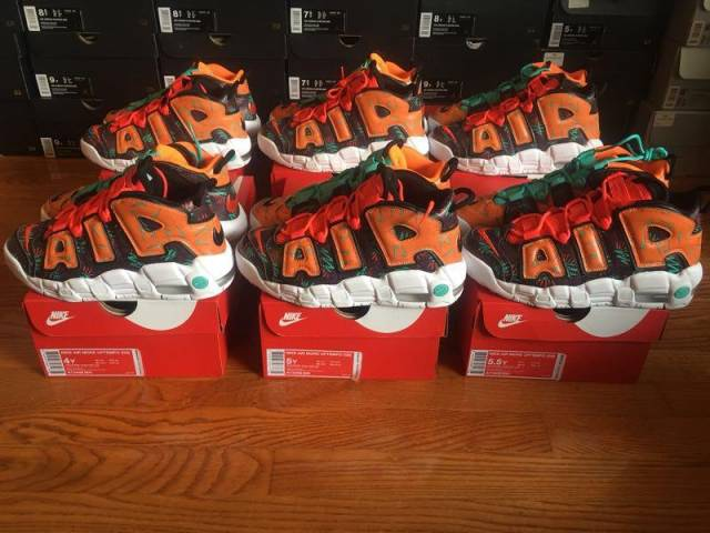 """153a96638 New Nike Air More Uptempo GS """"What The"""" 90s"""