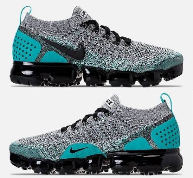 NIKE AIR VAPORMAX FLYKNIT 2 MEN'S RUNNING HYPER JADE - WHITE - BLACK -  CACTUS SZ