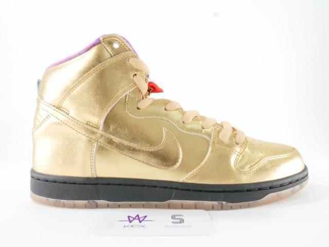 official photos 3dcc2 11088 Nike Sb Dunk High Humidity Sz 10 Metallic Gold Av418-77... Size 10