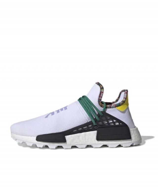 79e94c4e4 Pharrell x Adidas NMD HU Inspiration White Green Yellow Size 4-15 ...
