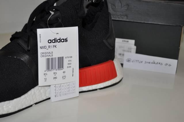 e48b94fd3 Adidas NMD OG core black lush red Size 4.5 US 4 UK 36.5 2 3