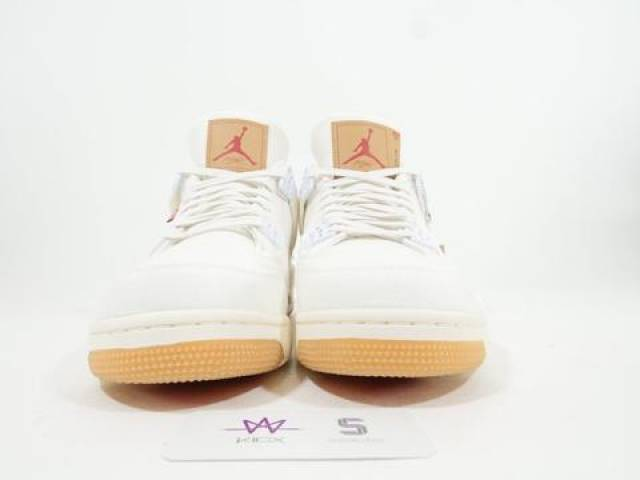 pretty nice d6f0f 9e242 Levi's X Air Jordan 4 White Denim Size 10.5