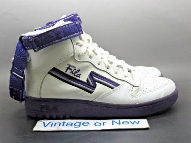 Women's Vtg 1992 Fila Fx 100 White Purple Double Strap