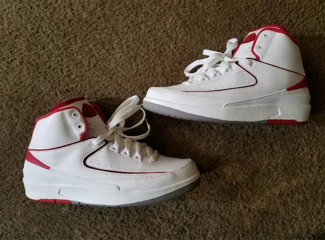 promo code 4608c 20c5b Air Jordan 2 White / Red