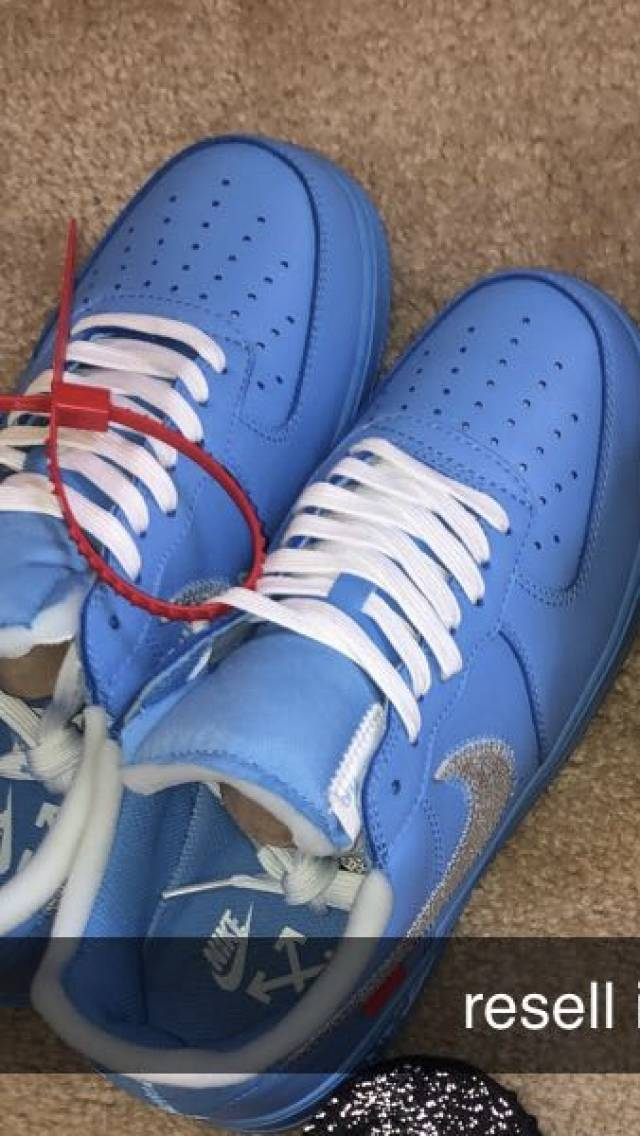 Off white Mca University Blue Air Force 1 Low