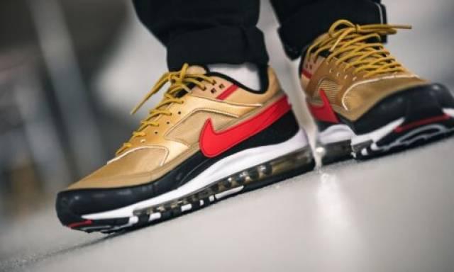 Nike Air Max 97 BW Metallic Gold Red