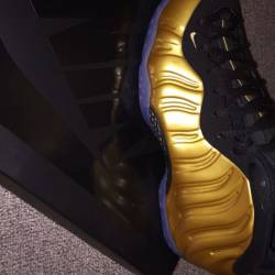 Nike foamposite gold size 8 an...