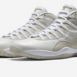 Jordan 10 ovo white size 10.5