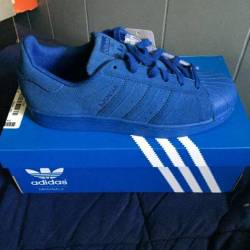 Adidas superstar suede blue co...