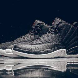 Air jordan 12 black nylon mens