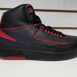 Air jordan 2 retro black red 8...
