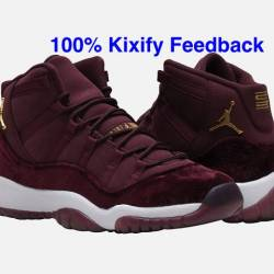 Air jordan 11 velvet gs maroon...