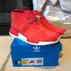 Adidas nmd cs1 red suede chukka