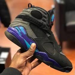 Jordan 8 aqua size 8 5 pre owned