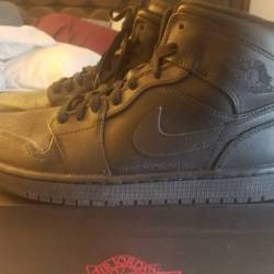 New air jordan 1 mid black las...