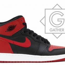 Authentic jordan 1 bred banned...