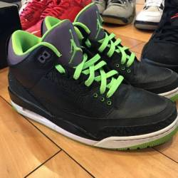 Jordan 3 joker black green