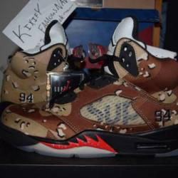 Supreme x air jordan 5 desert ...