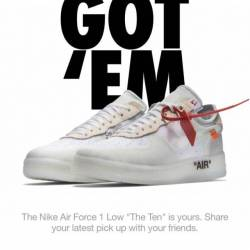 Off white air force lows size ...
