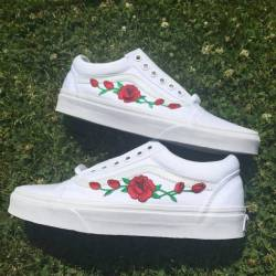 Rose white vans old skool men/...