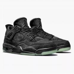 Air jordan 4 retro x kaws blac...