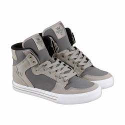 Supra vaider mens gray leather...