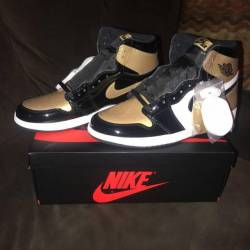 Air jordan 1 retro high og gol...